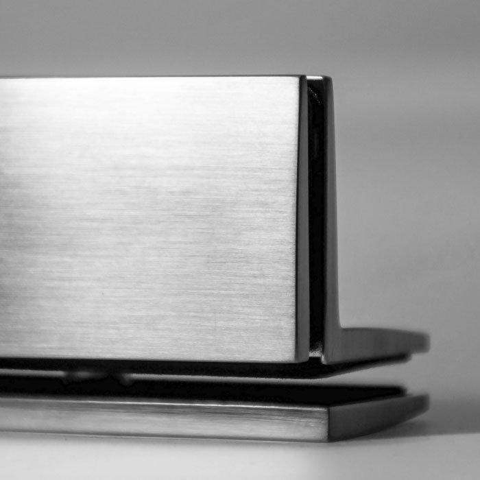 """Угловой коннектор стекло-стекло с покрытием """"эффект нержавеющей стали"""". Pauli"""