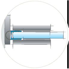 Стеклянная дверь с уплотнителем