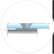 Крепеж стекла впотай - вровень со стеклом
