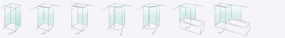 Типы душевых конструкций