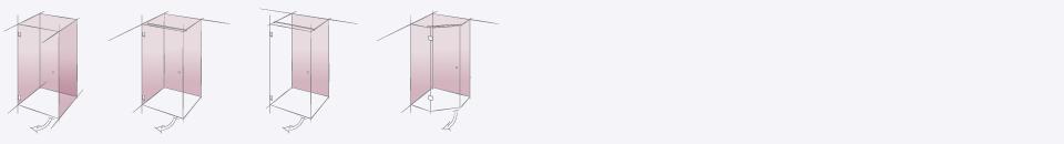 Типовые конструкции душевых перегородок. Производство Германия.