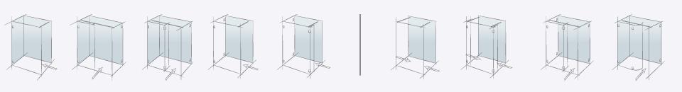 Типовые конструкции душевых перегородок