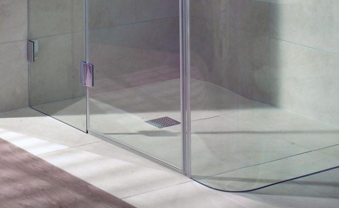 Угловая стеклянная перегородка