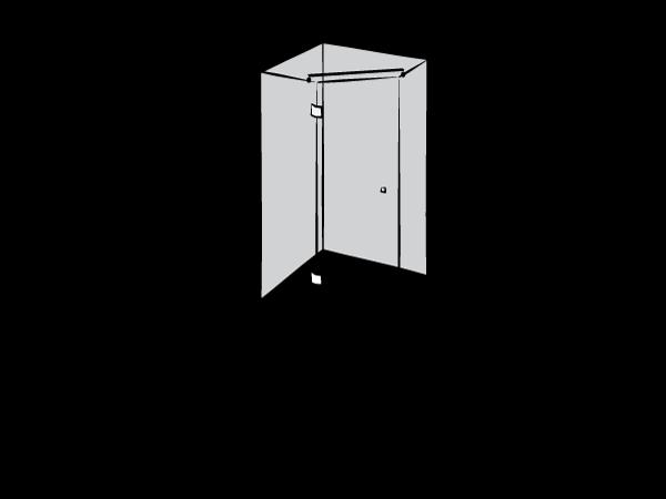 Душевая кабина пятиугольная
