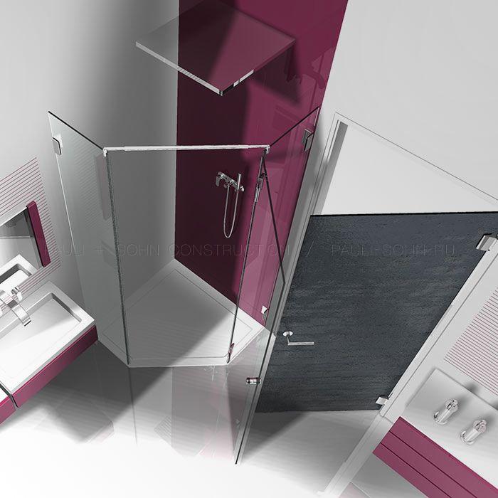 5 угольная стеклянная душевая перегородка