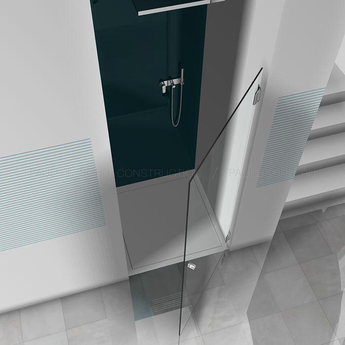 стеклянная дверь в ванной