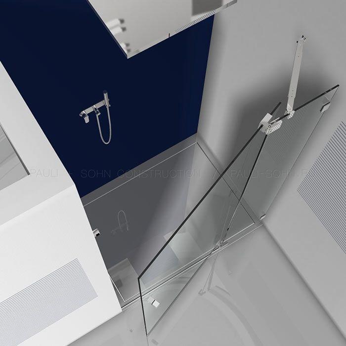 стеклянная дверь с перехлестом