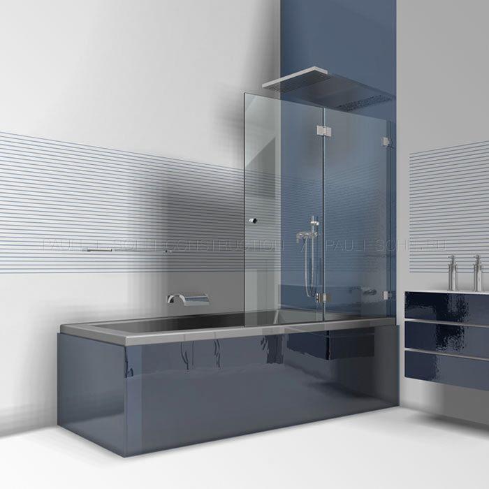 Складной стеклянный экран на ванну