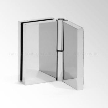 Регулируемый коннектор стена-стекло 90