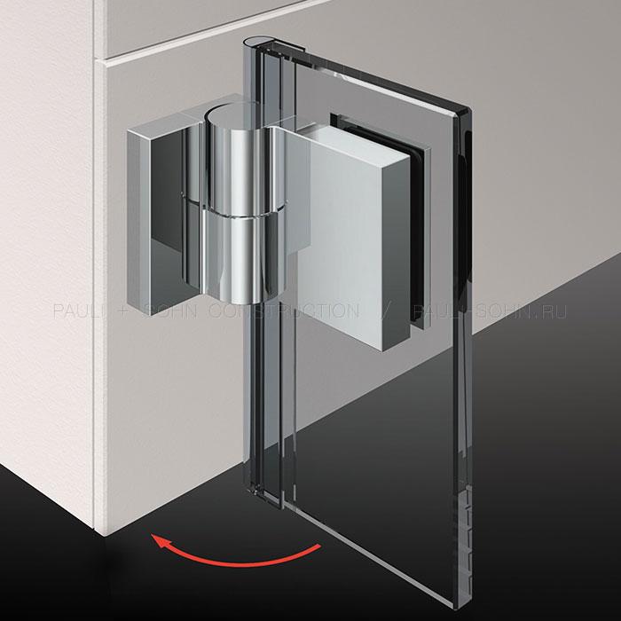 Петля стекло-стена с подъемом