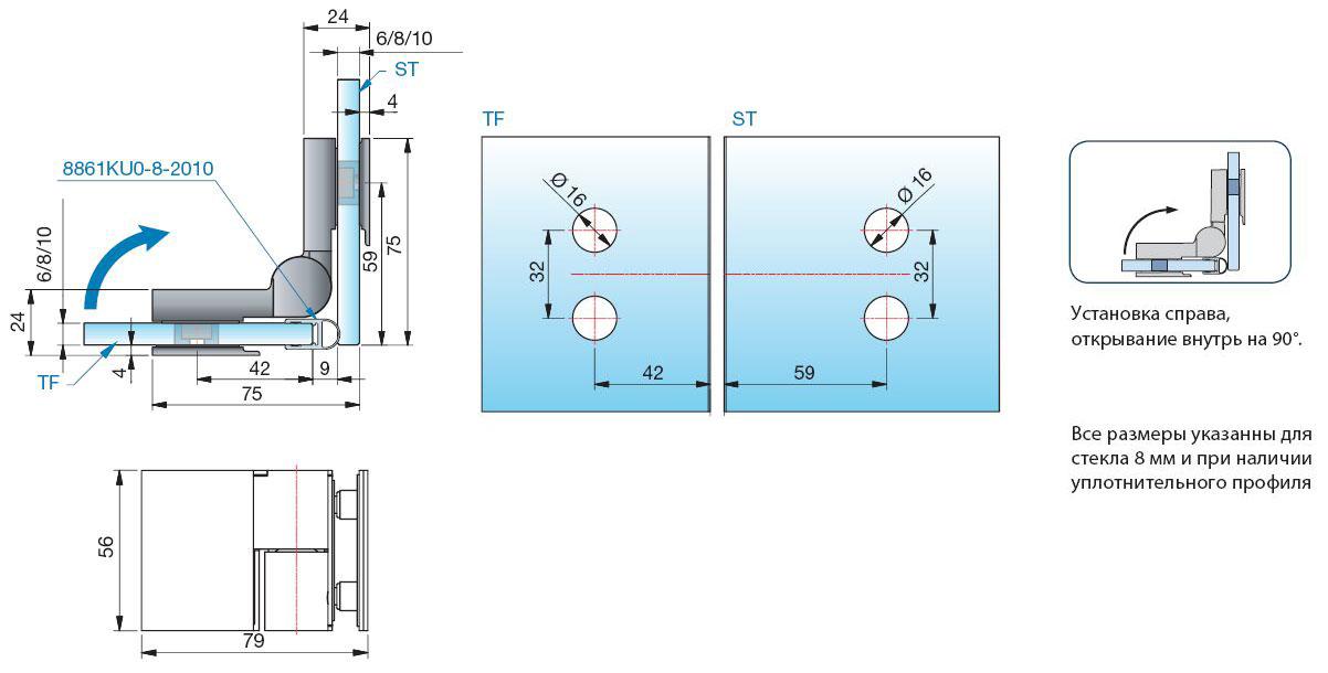 Схема вырезов стекло стекло